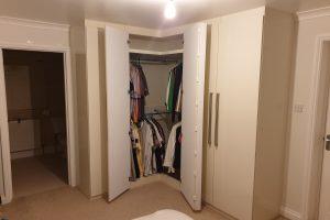 Glossed Corner Wardrobe