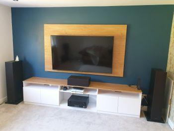 TV Backboard and Shelving Unit 1
